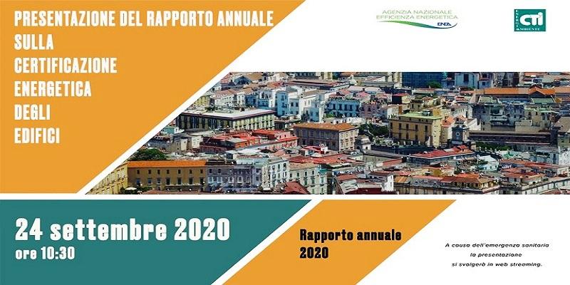 ENEA Rapporto annuale 2020 sulla Certificazione Energetica degli edifici