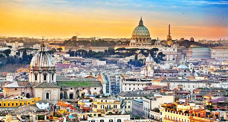 Vista dell città-di-Roma